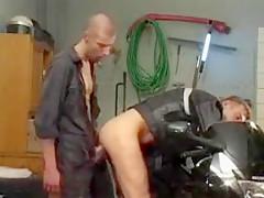 Motorcycle youthful men fucking