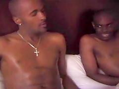 Two Hot Black Guys Fuck And Masturbate