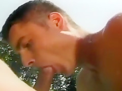 Amazing outdoor orgy as group