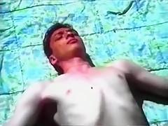 Retro outdoor gay sex scene