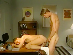 Gay twinks fucking on table top