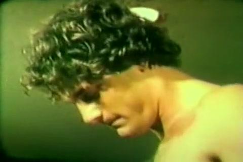 Horny male in crazy vintage, big dick gay sex movie